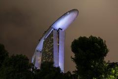 SINGAPORE, 9 December, 2017: De nieuwe Marina Bay Sands-toevlucht Stock Afbeelding