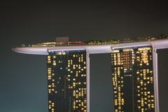 Singapore December 20,2013: Den nya Marina Bay Sands semesterorten på a Arkivbilder