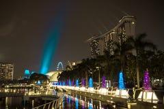 Singapore December 20,2013: Den nya Marina Bay Sands semesterorten på a Arkivfoto