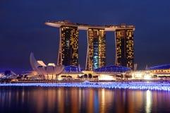 Het Zand van de Baai van de jachthaven, Singapore Stock Afbeeldingen