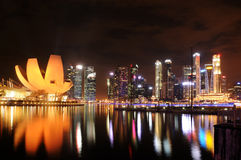 Het Zand van de Baai van de jachthaven, Singapore Royalty-vrije Stock Afbeelding
