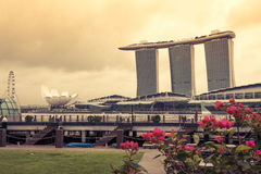 Singapore,December 20,2013:The Marina Bay Sands Resort Hotel Stock Image