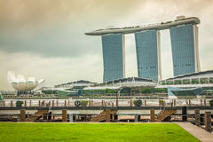 Singapore,December 20,2013:The Marina Bay Sands Resort Hotel Stock Photos