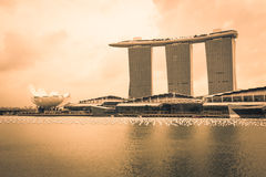Singapore,December 20,2013:The Marina Bay Sands Resort Hotel Royalty Free Stock Image