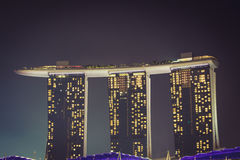 Singapore,December 20,2013: The new Marina Bay Sands resort on a Royalty Free Stock Image