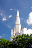 Singapore-December 2015.The tower St.Andrew's Cathedral in Singapore Stock Photo