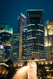 Singapore,December 20,2013: View of the city skyline at night in Stock Images