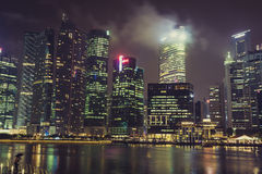 Singapore,December 20,2013: View of the city skyline at night in Stock Photography