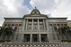 Singapore, Singapore - 25 dicembre 2017: National Gallery precedente Singapore Corte suprema del ` s di Singapore, immagine stock