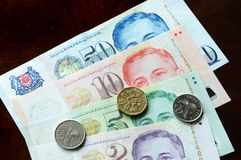 Singapore Dollar. Is an important currency in asia Royalty Free Stock Images