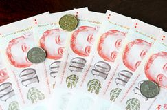 Singapore Dollar. Is an important currency in asia Stock Image