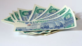 Singapore Dollar. Stack of Singapore one dollar notes Royalty Free Stock Photo