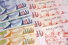 Singapore dollar arkivfoton
