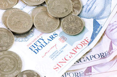 Singapore Dollar Royalty Free Stock Photography
