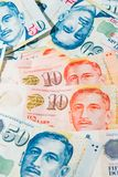 Singapore Dollar, Banknote Singapore on White background Royalty Free Stock Images