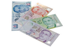 Singapore dollar bills Royalty Free Stock Photos
