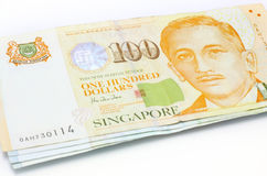 Singapore dollar notes. On white Stock Image