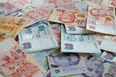 Singapore dollars Royalty Free Stock Image