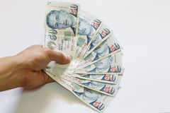 Singapore 50 dollars bank note Royalty Free Stock Photo