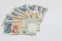 Singapore 50 dollars bank note Royalty Free Stock Image