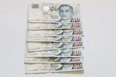 Singapore 50 dollars bank note Royalty Free Stock Photography