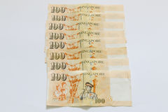 Singapore 100 dollars bank note Royalty Free Stock Photos
