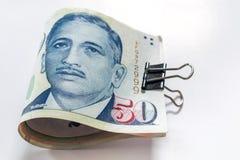Singapore dollars  the basic monetary unit of Singapore. Stock Image