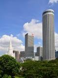 Singapore downtown area Royalty Free Stock Photos