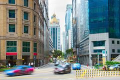 Singapore Downtown busy street life Royalty Free Stock Photos