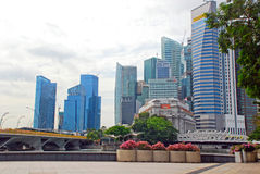 Singapore downtown cityscape Stock Image