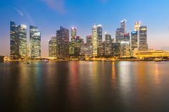 Singapore downtown Sunset Royalty Free Stock Photo