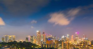 Singapore downtown and cityscape at night scene Royalty Free Stock Photo