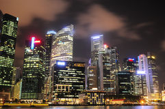 Singapore downtown core Royalty Free Stock Photo