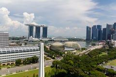 Singapore Downtown, Esplanade Theatres on the Bay, Marina Bay Sa Royalty Free Stock Photos