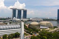 Singapore Downtown, Esplanade Theatres on the Bay, Marina Bay Sa Royalty Free Stock Photo