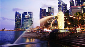 Singapore downtown panorama Stock Photography