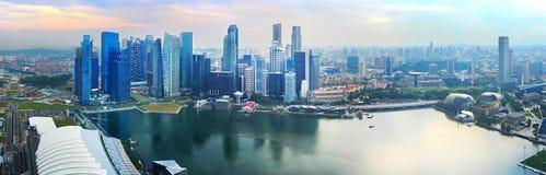 Singapore Downtown panorama Stock Photography