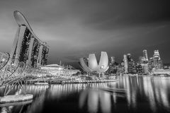 Singapore downtown skyline Royalty Free Stock Images