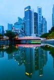 Singapore Downtown Skyline at Break of Dawn stock image