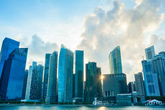 Singapore Downtown, skyline Royalty Free Stock Photography