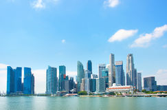 Singapore Downtown skyline Stock Photo
