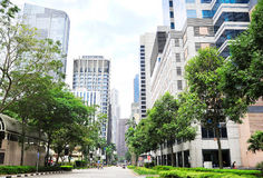 Singapore downtown street Royalty Free Stock Image