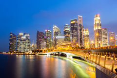 Singapore downtown Sunset Royalty Free Stock Photography