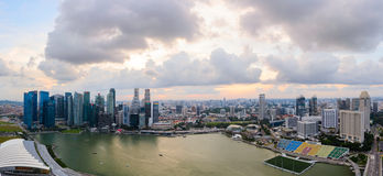 Singapore downtown Royalty Free Stock Photo