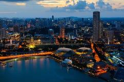 Singapore downtown Royalty Free Stock Photo