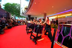 Singapore Drum performances Stock Photo