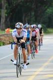 Singapore Duathlon 2012. Young participants of the Singapore Duathlon 2012, in the bike leg of the race Stock Images