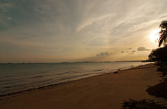 Singapore, East Coast Park, Beach at sunset.Horizontal view. Royalty Free Stock Images