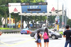 Singapore :  Electronic Road Pricing Royalty Free Stock Photos
