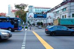 Singapore: Elektronische Weg Tarifering royalty-vrije stock afbeeldingen